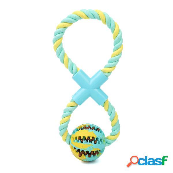 Nuovo giocattolo per cani in cotone corda + palla di gomma