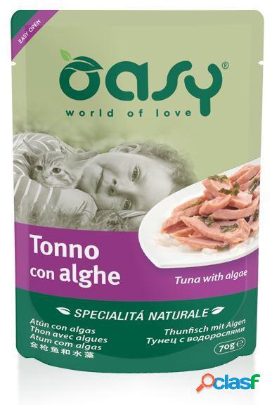 Oasy gatto busta specialità naturali gr 70 tonno con alga