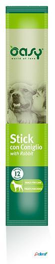 Oasy snack dog stick con coniglio gr 12