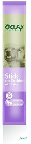 Oasy snack dog stick con tacchino gr 12