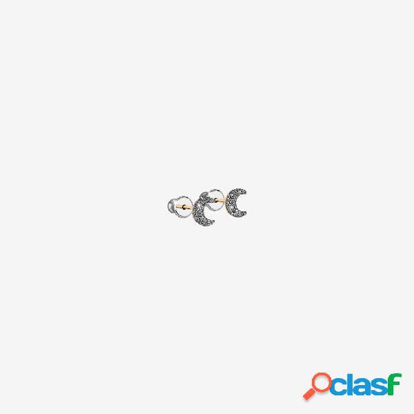 Orecchini Jolie copriforo in argento con luna rivestita di
