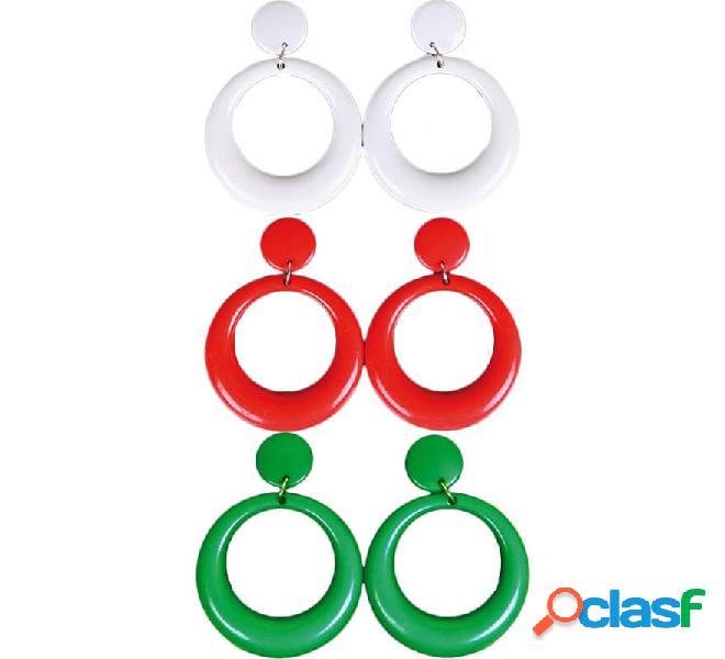 Orecchini a cerchio di flamenco in vari colori