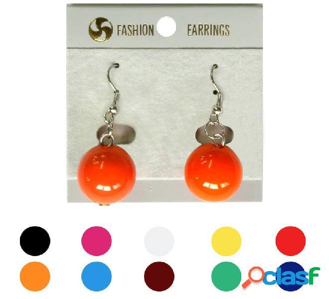 Orecchini a palla di flamenco in vari colori