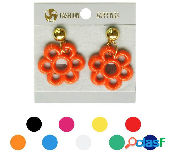 Orecchini di fiori di flamenco in vari colori
