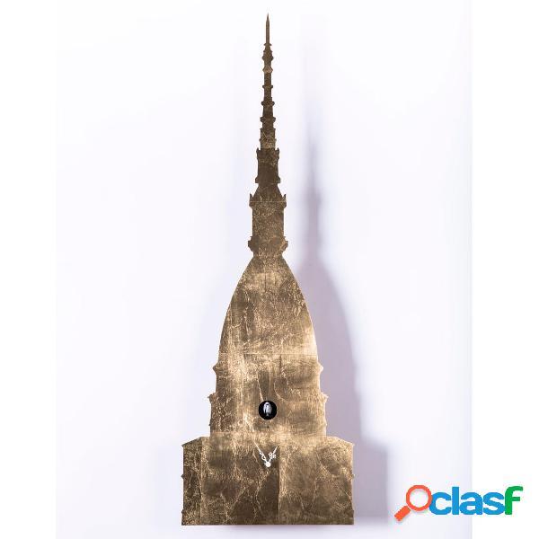 Orologio cucù MOLE Cassa in lamiera rivestita 31x10xh93 cm