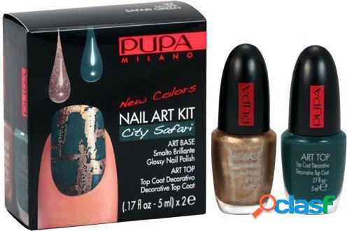 PUPA Nail Art City Safari Cracking Effect Kit - 27 Taupe &