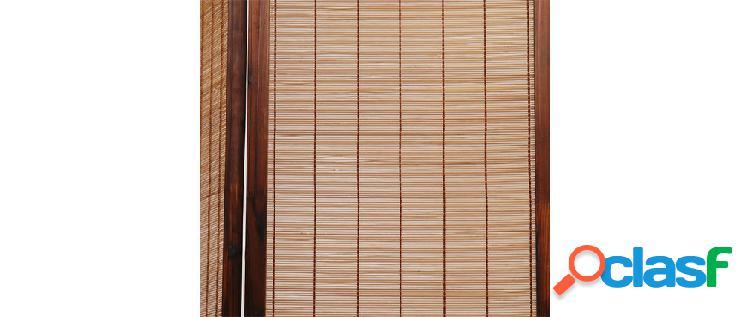 Paravento 3 pannelli NIHA in abete e bamb
