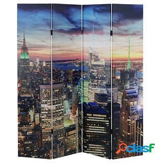 Paravento a 4 pannellli LED CITY, 180x160x2,5cm, Struttura