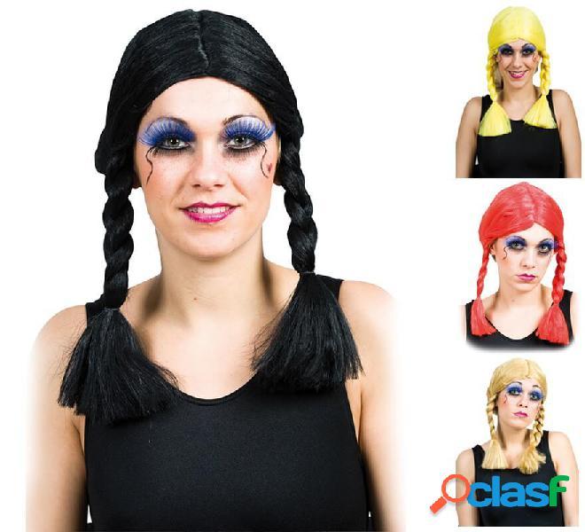 Parrucca con trecce in vari colori