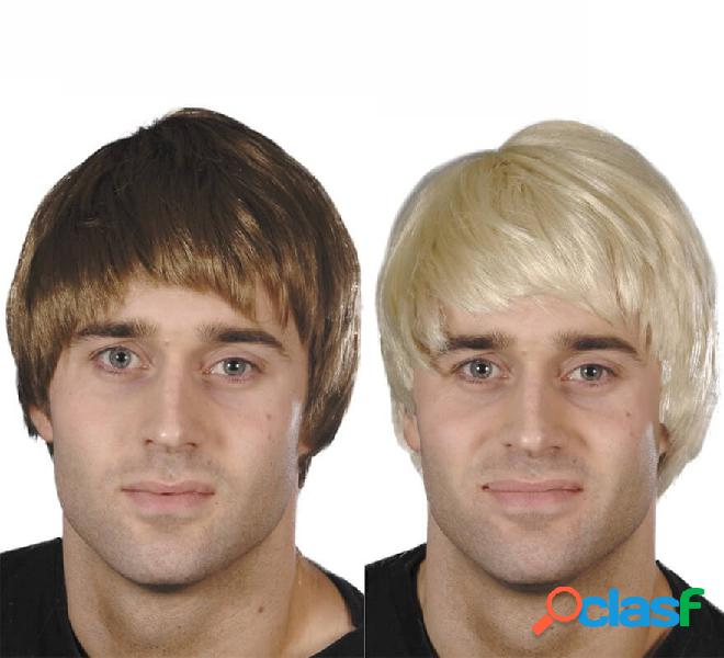Parrucca corta con frangia in vari colori