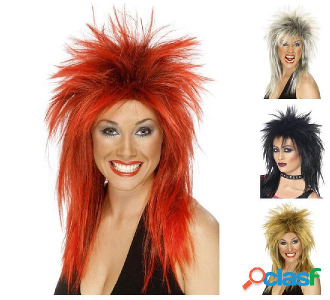Parrucca da diva rock anni '80 in vari colori
