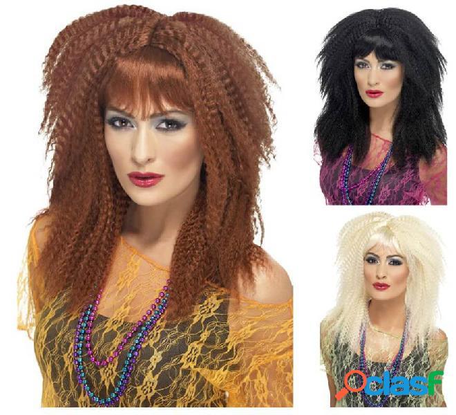 Parrucca da donna riccia anni '80 in vari colori