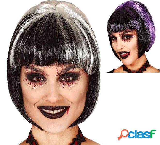 Parrucca da vampira con frangetta in vari colori