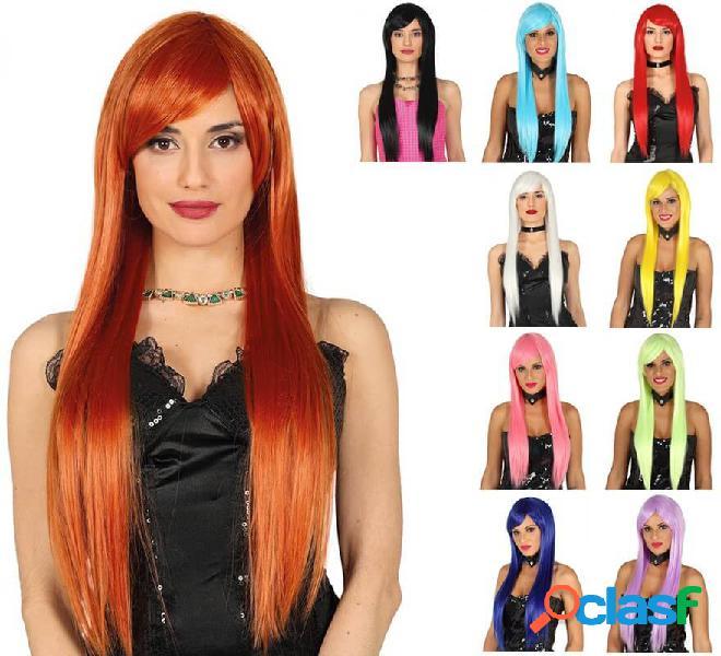 Parrucca liscia e lunga in vari colori