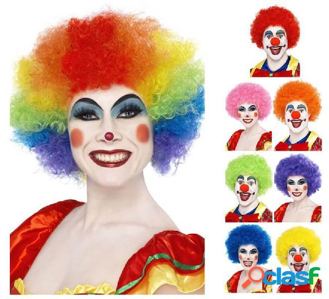 Parrucca unisex da 120g clown in vari colori
