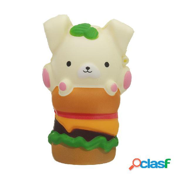 Peluche di Kawaii Puppy Hamburger Squishy Slow Rising