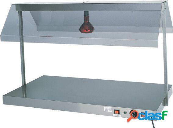 Piano caldo in inox con 1 lampada a raggi infrarossi