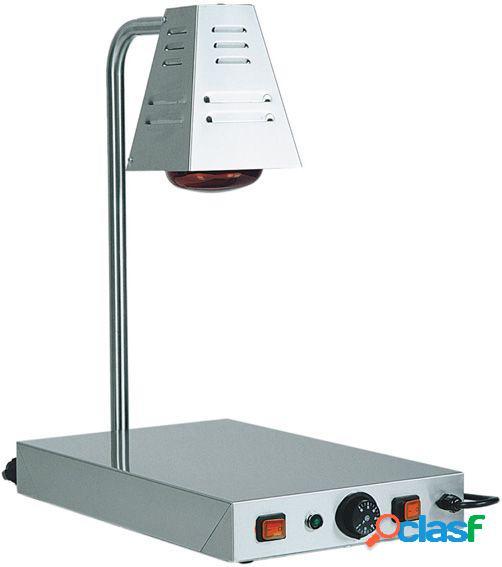 Piano caldo in inox con 2 lampade a raggi infrarossi