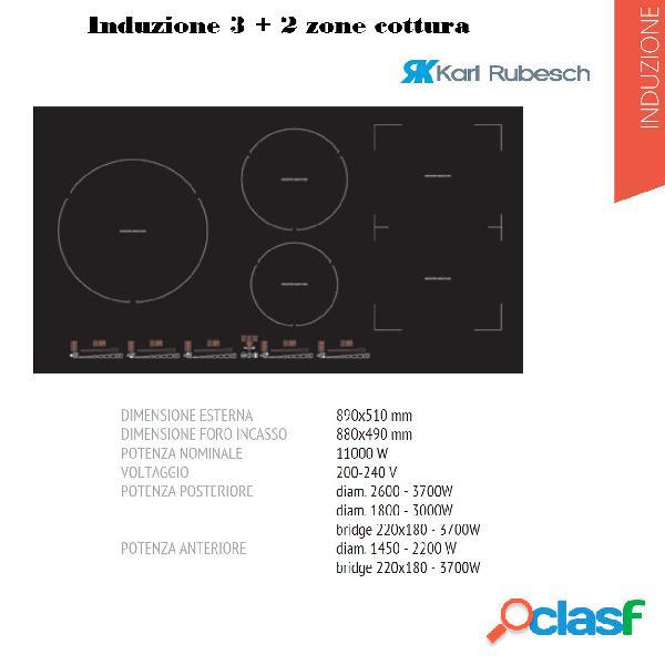 Piano cottura induzione 3+2