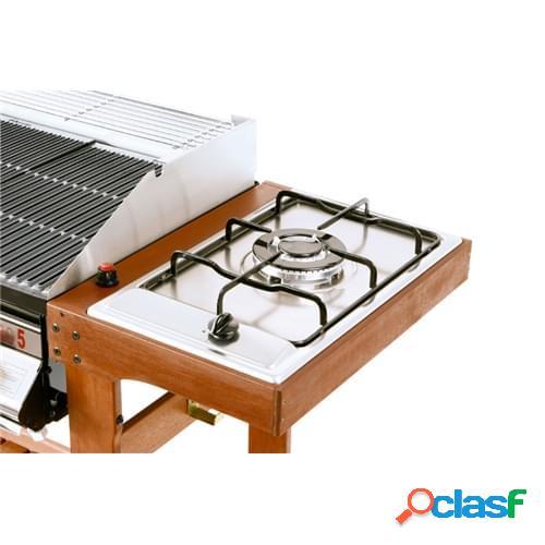 Piano cottura tripla corona con cornice per barbecue