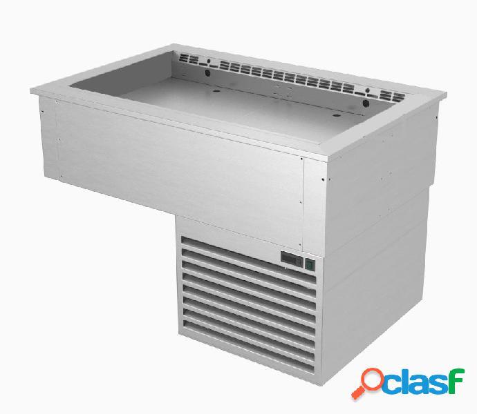 Piano refrigerato ventilato da incasso con vasca regolabile