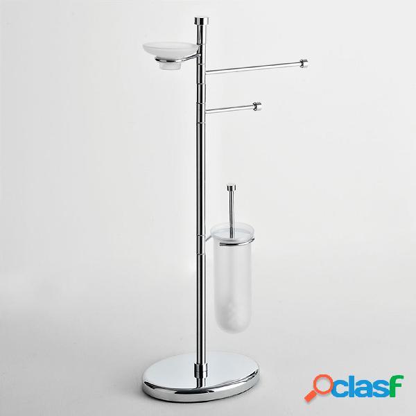 Piantana WC Bidet base ovale con porta scopino e portasapone