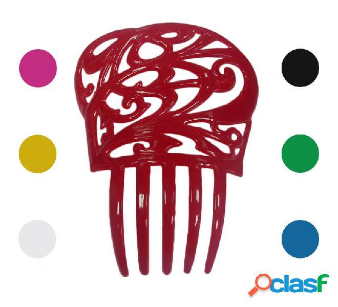 Piccolo pettine fiammingo di 13,6 x 11 cm in vari colori