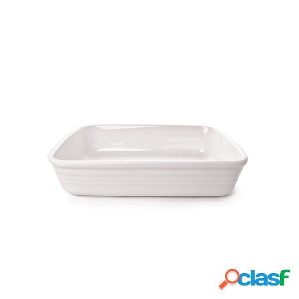 Pirofila Rettangolare Gastronomia In Porcellana Bianca Cm
