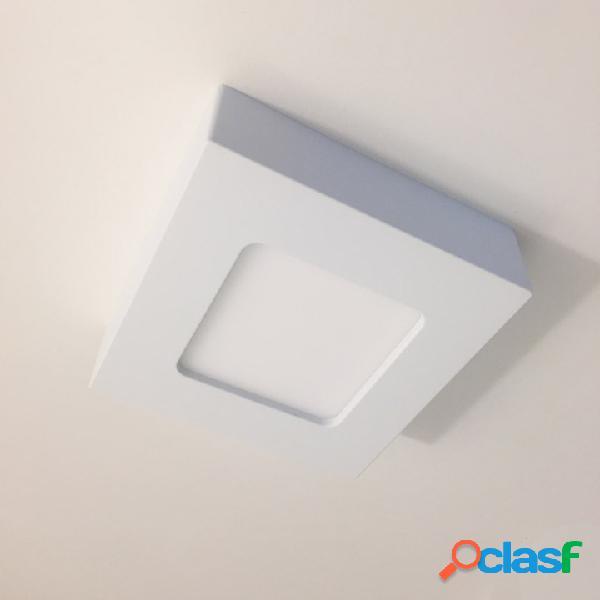 Plafoniera a LED quadrata da parete o soffitto 122x122 mm -
