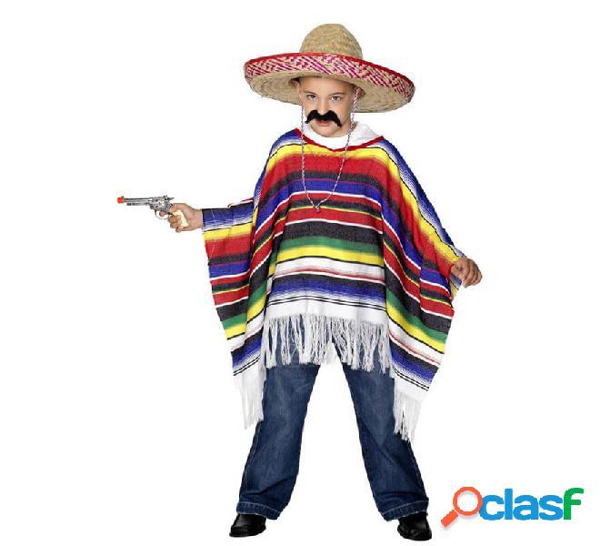 Poncho per bambini multicolori messicani