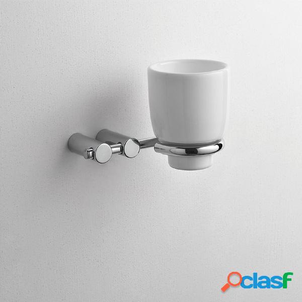 Porta bicchieri sospeso da muro in ceramica KIOS 14x11xh11