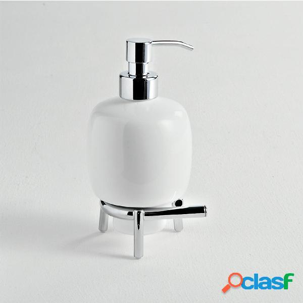 Porta dispenser d'appoggio in ceramica KIOS 10x08xh18 cm