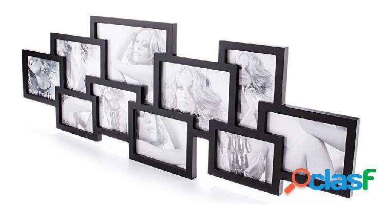 Portafoto Moderno da Muro Maxi colore Nero 10 foto