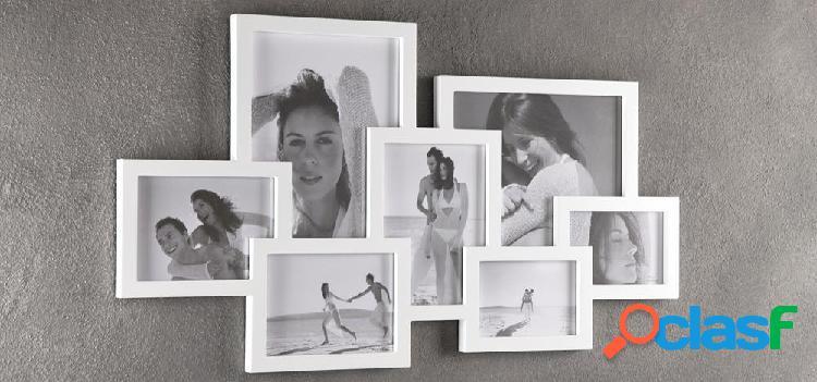 Portafoto Moderno da Muro colore Bianco Collage