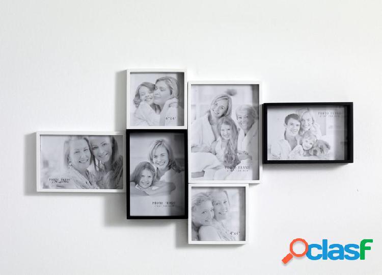 Portafoto da Muro Laccato Bianco e Nero opaco