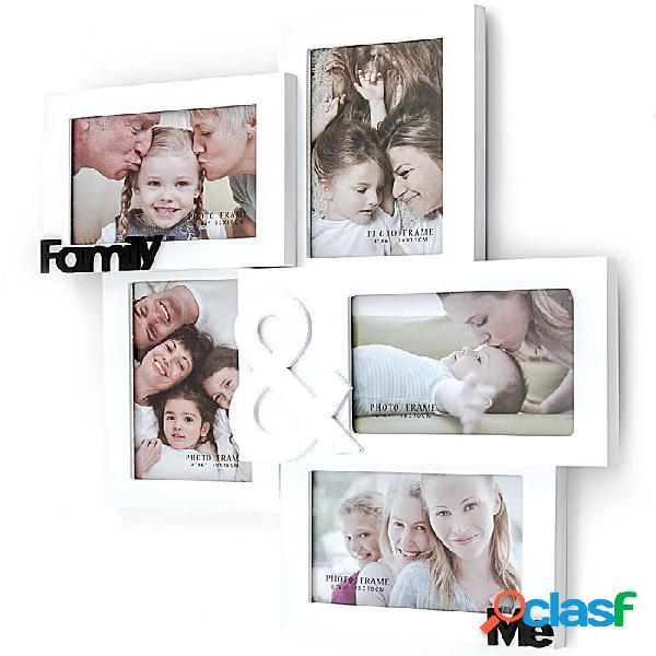 Portafoto da Muro in Legno Bianco Family