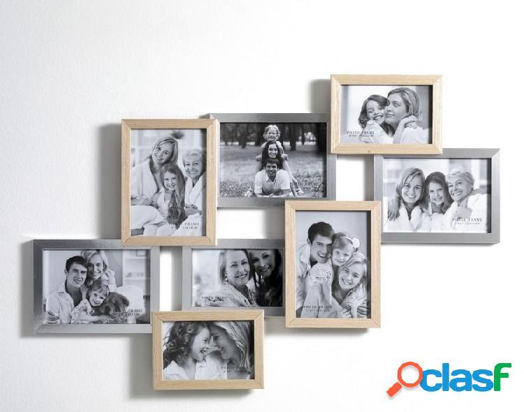 Portafoto da Muro in legno Contiene 8 foto