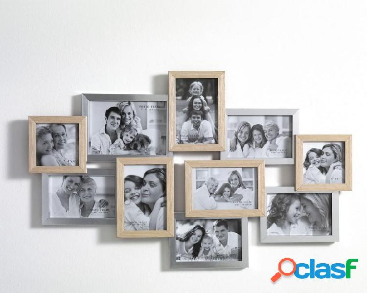 Portafoto da Muro in legno Massello Bicolor