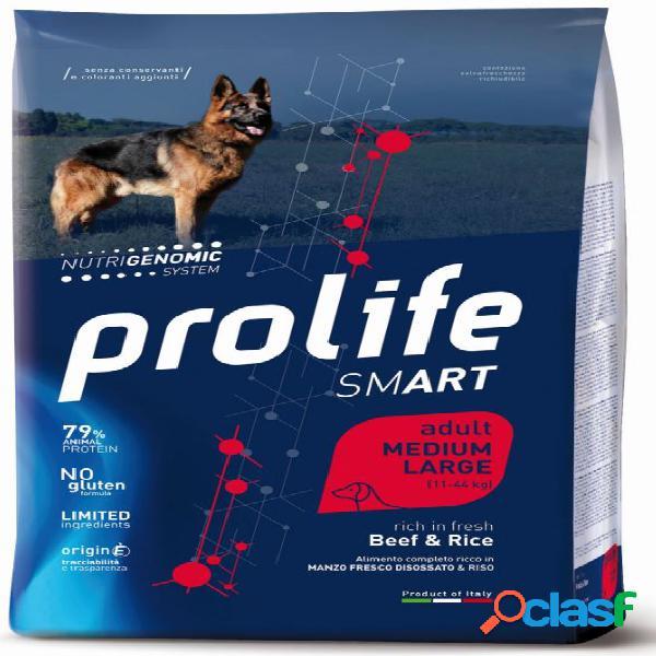 Prolife cane smart adulto medium large manzo kg 12 - smart