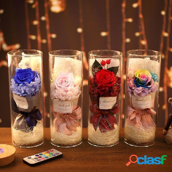 Rainbow Rose Night Light San Valentino regalo decorazione
