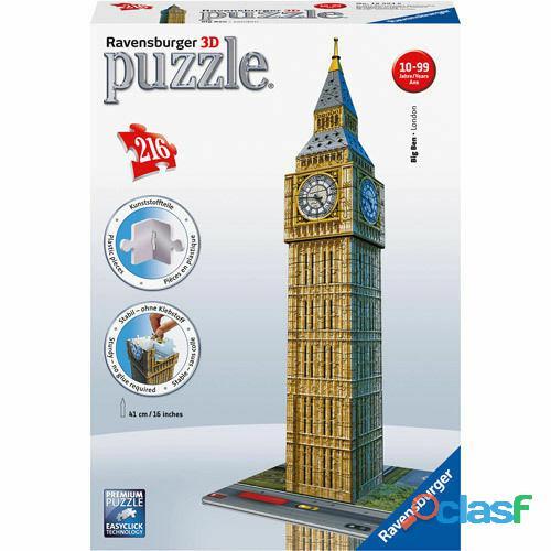 Ravensburger 125548 Puzzle 3D Big Ben London 216pz