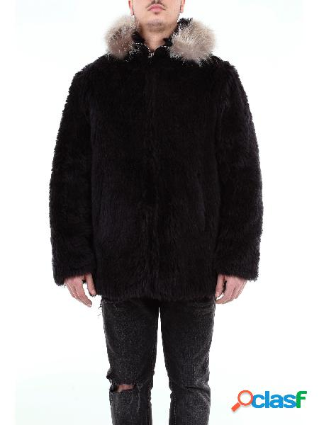 SAINT LAURENT Saint Laurent cappotto pelliccia corto con