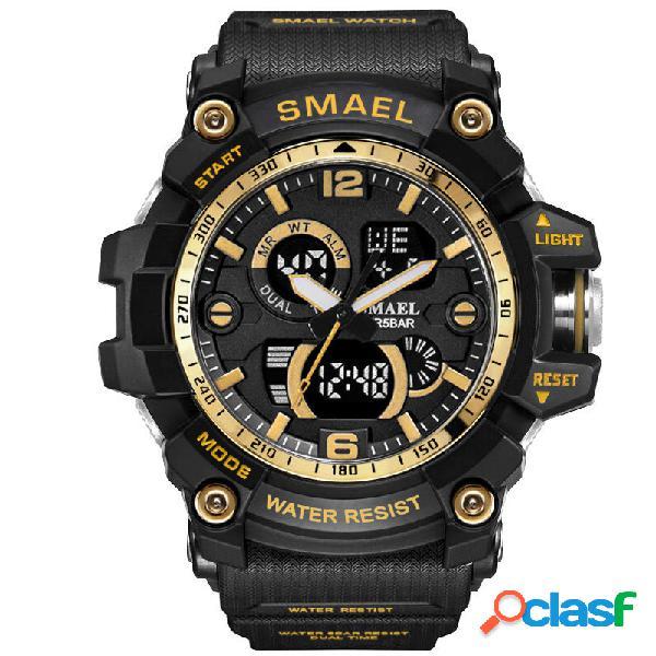SMAEL Dual Display orologio sportivo impermeabile Orologio