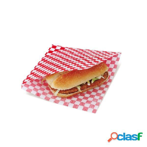 Sacchetti Per Hamburger Kebab In Carta Bianca Rossa Cm