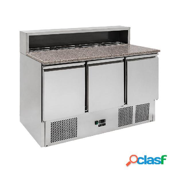 Saladette 3 porte con refrigerazione statica predisposta per