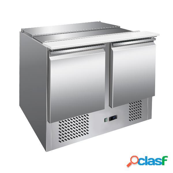 Saladette inox con refrigerazione statica - per 3 bacinelle