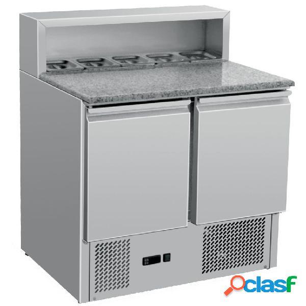 Saladette refrigerazione statica predisposta per 5 bacinelle