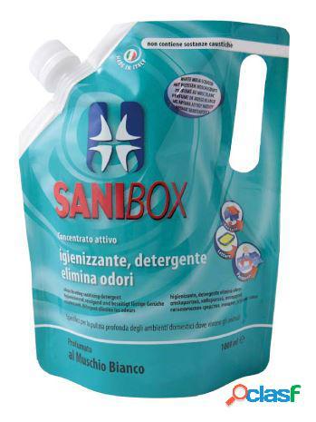 Sanibox igienizzante profumato ml 1000 al muschio bianco