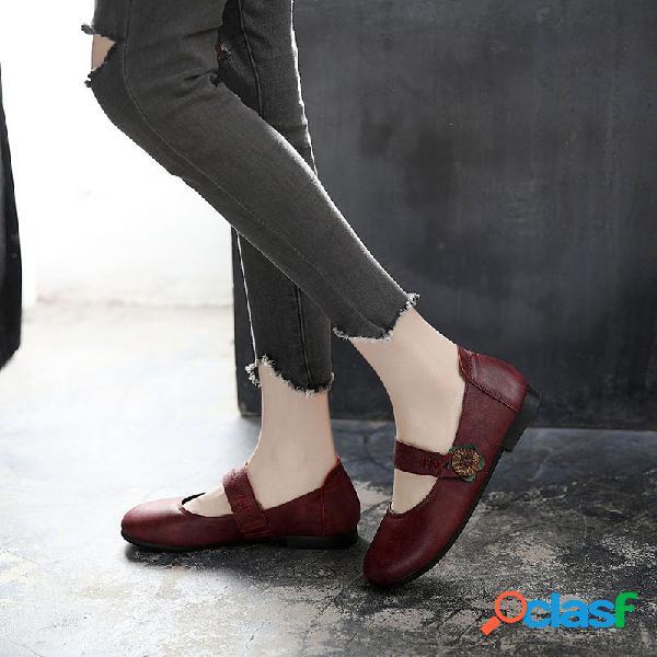 Scarpe da donna antiscivolo in morbida pelle di vitello