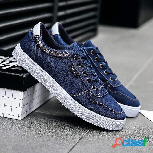 Scarpe da ginnastica in tela lavata da uomo Comode scarpe